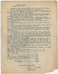 Office Report, Coming Street Y.W.C.A., September 3, 1924