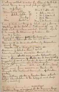 Minutes, Y.W.C.A., October 1910