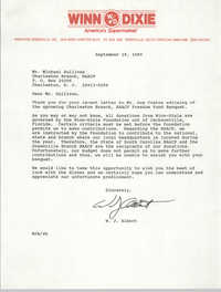 Letter from W.J. Albert to Michael Sullivan, September 19, 1989