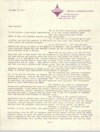 Letter from J. Maddison Masters, November 25, 1977