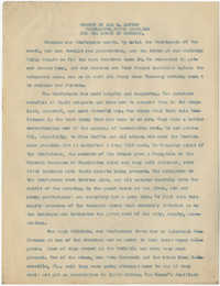 Coming Street Y.W.C.A. Report for October 1920