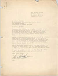 Letter from Lora Walker to S. B. Mackey, August 13, 1955