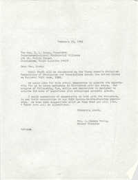 Letter from Anna D. Kelly to Z. L. Grady, February 18, 1966