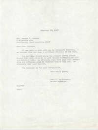 Letter from Christine O. Jackson to Mrs. Newton F. Hancock, November 27, 1967