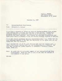 Coming Street Y.W.C.A. Memorandum, December 14, 1967