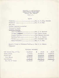 Agenda, Coming Street Y.W.C.A. Committee on Administration Meeting, December 18, 1967