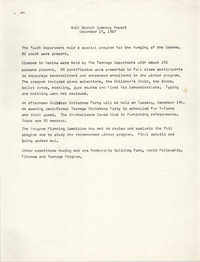 Coming Street Y.W.C.A. Summary Report, December 15, 1967