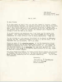 Letter from Christine O. Jackson, May 8, 1967