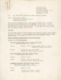 Y.W.C.A. Southern Region Memorandum, November 2, 1950