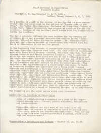 Information on the Staff Meetings on Supervision, Southern Region of the Y.W.C.A., December 1950 to January 1951