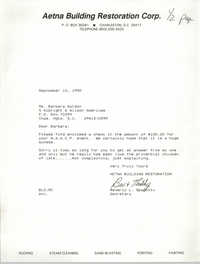 Letter from Beverly L. Spadotto to Barbara Gordon, September 10, 1990