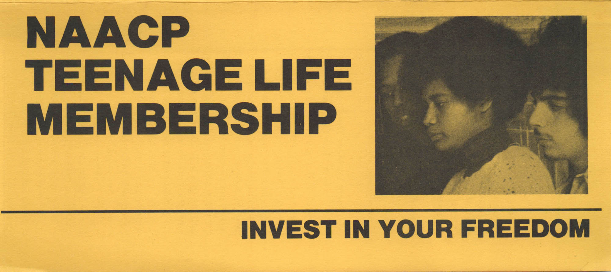 Brochure, NAACP Teen Life Membership, Invest in Your Freedom, NAACP