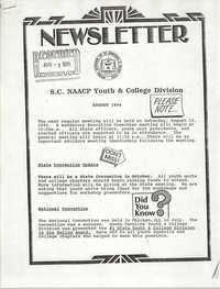 Newsletter, S.C. NAACP Youth & College Division, August 3, 1994