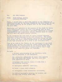 National Board of the Y.W.C.A. Memorandum, 1956