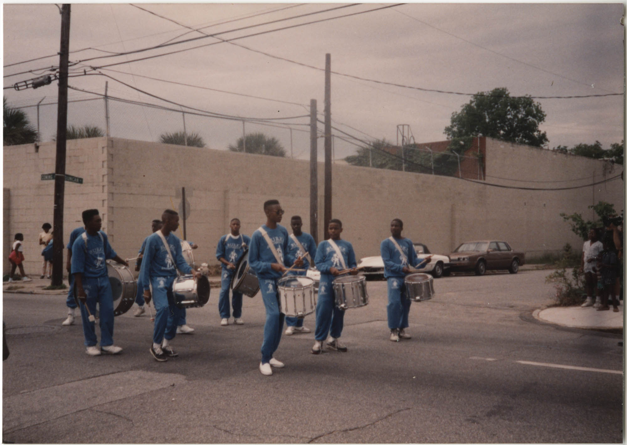 Photograph of a Drum Line