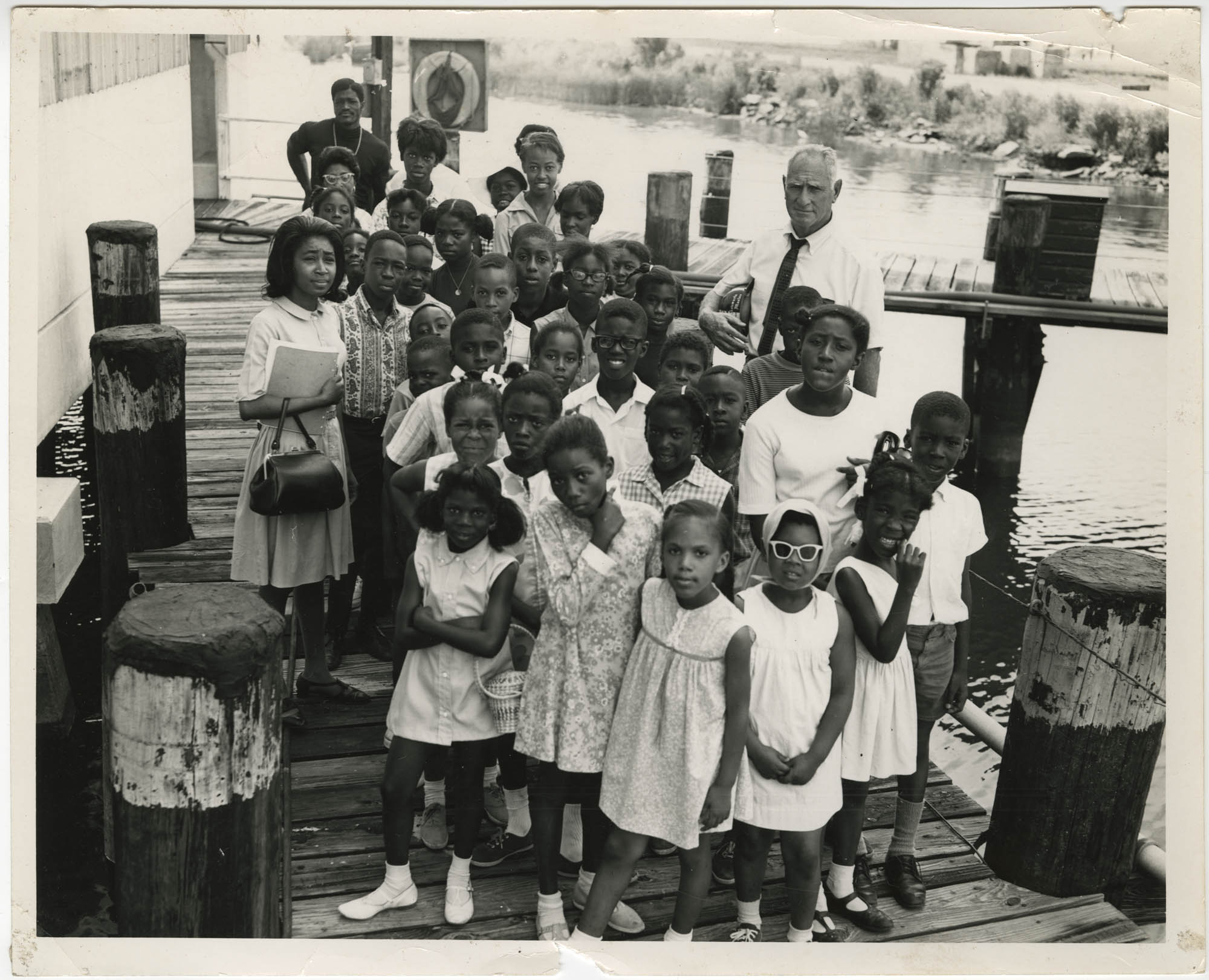 Photograph of Children on a Dock