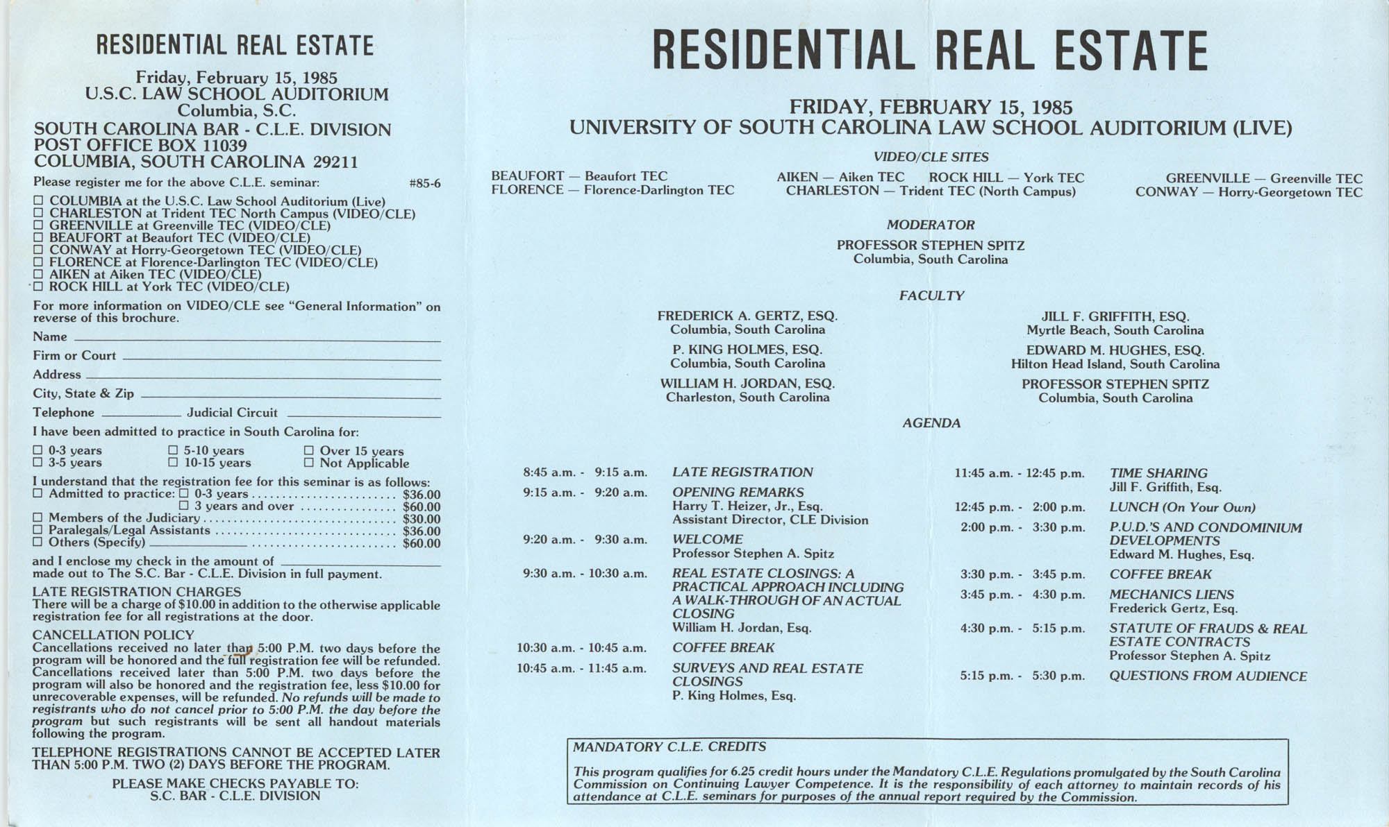 Understanding Residential Real Estate, Video/CLE Seminar Pamphlet, February 15, 1985