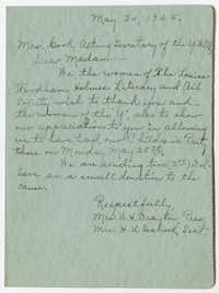 Letter from W. H. Drayton and H. U. Seabrook to Cecilia E. Book, May 30, 1925