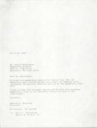 Draft, Letter from Deboria D. Gourdine to Janice Washington, NAACP, March 15, 1989