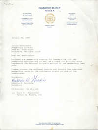Letter from Deboria D. Gourdine to Janice Washington, NAACP, January 25, 1989