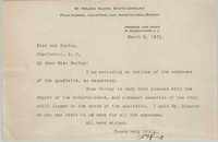 Letter from James P. King to Ada C. Baytop, March 6, 1923