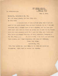 Letter from Ada C. Baytop to Goldsmith, Lowenfels and Co., Inc., February 6, 1923