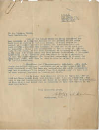 Letter to the Finance Board and Co-workers for the Y.W.C.A., January 29, 1919