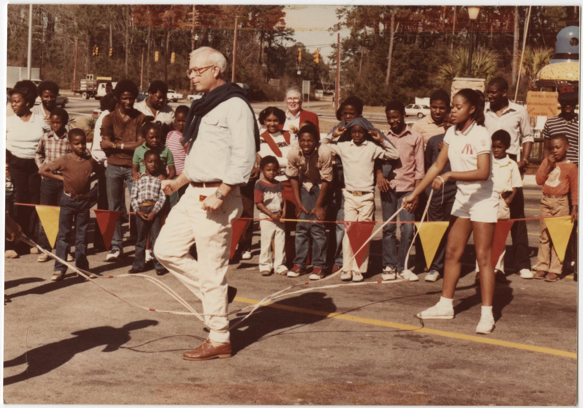 Photograph of People Jumping Rope