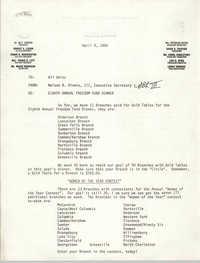 Memorandum, Nelson B. Rivers III, April 9, 1986