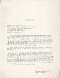 Letter from Anna D. Kelly to Ethlyn Christensen, July 14, 1965