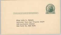 Y-Teen Conference Postcard, 1950
