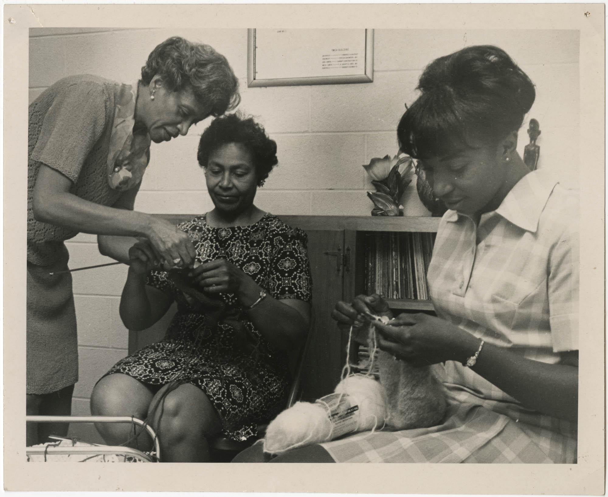 Photograph of Women Knitting