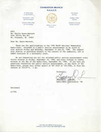Letter from Gregory O. Larkins to Marcia Byars-Warnock