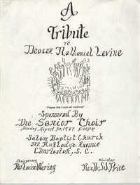 Program, A Tribute to Deacon Nathaniel Levine, Senior Choir, Salem Baptist Church, August 30, 1987