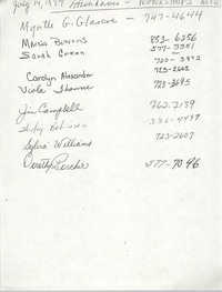 Contact Information, Attendance Workshops, July 14, 1994