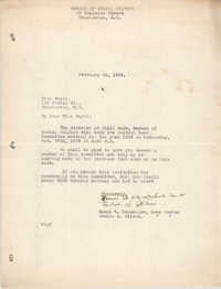 Letter from Naomi W. DeLesline and Beulah L. Wilson to Ella L. Smyrl, February 23, 1929