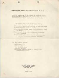 Community Young Women's Christian Associations of the U.S.A., Community Headquarters List, April 1944