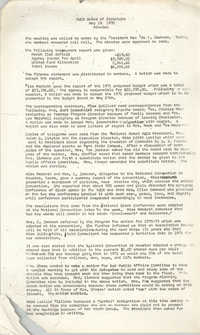 Minutes to the Board of Directors Meeting, Y.W.C.A. of Greater Charleston, May 18, 1970