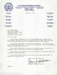 Memorandum, Nelson B. Rivers III, August 12, 1987