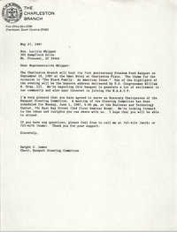 Letter from Dwight C. James to Lucille Whipper, May 27, 1987