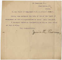 Letter from Jessie L. Pearson to the Board of Management, Coming Street Y.W.C.A., February 6, 1924