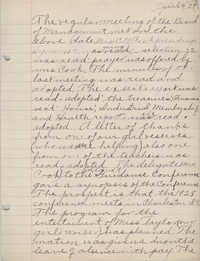 Minutes to the Board of Management, Coming Street Y.W.C.A., April 4, 1927