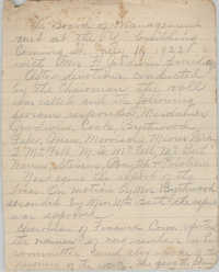 Minutes to the Board of Management, Coming Street Y.W.C.A., July 11, 1923