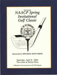 Program, 2nd Annual NAACP Spring Invitational Golf Classic, ACT-SO Program,  Stono Ferry, April 9, 1994