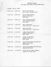 Program Changes, 17th Annual ACT-SO Competition, July 8-10, 1994