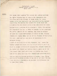 Statistical Report of the Coming Street Y.W.C.A., April 1937