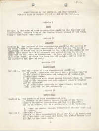 Constitution of the Business and Professional Women's Club of Coming Street Branch of the Y.W.C.A.