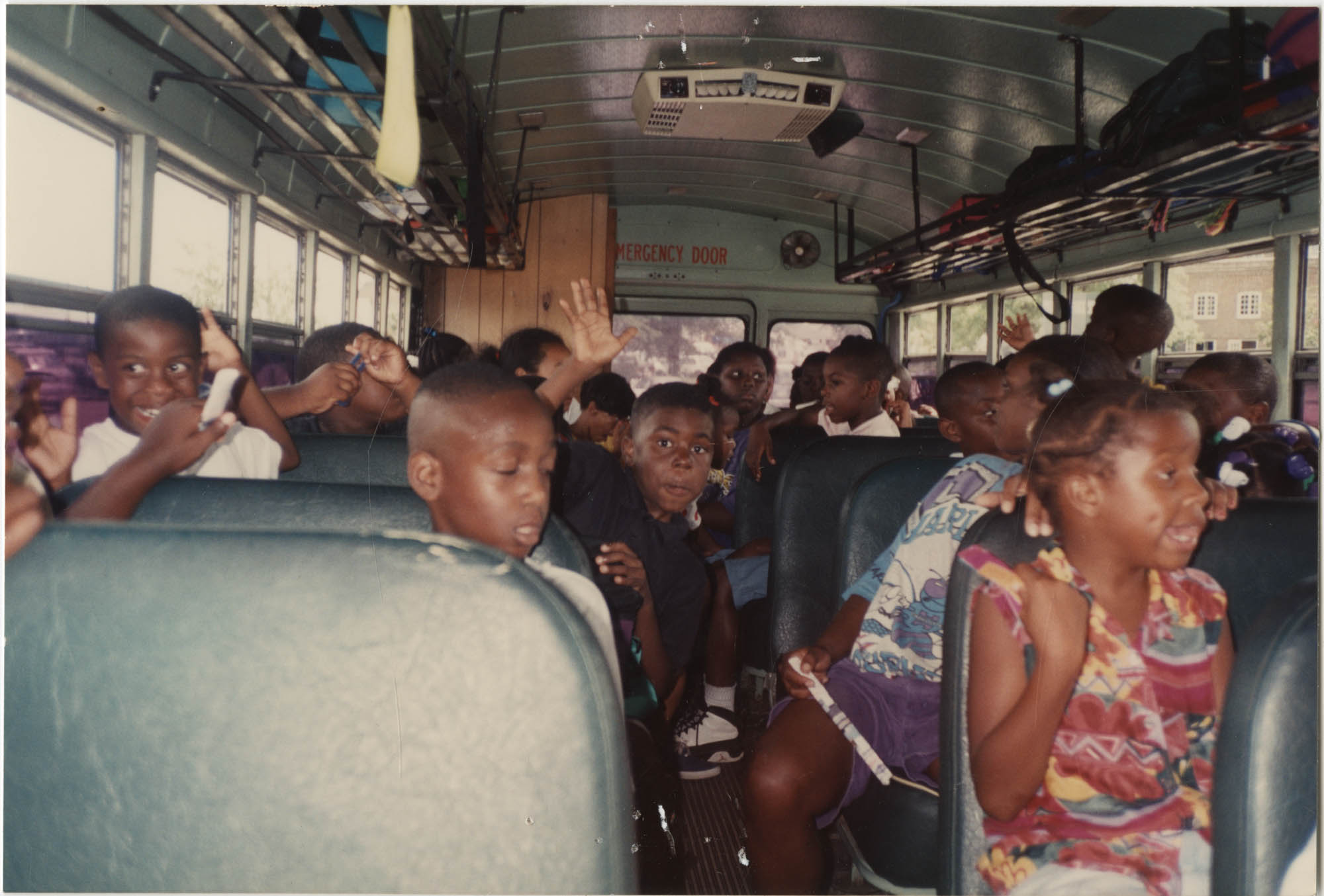 Photograph of Children on a School Bus