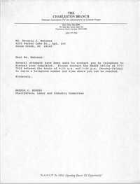 Letter from Brenda C. Murphy to Beverly J. Mahomas