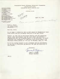 Letter from James E. Clyburn to Coming Street Y.W.C.A., April 15, 1966